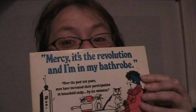 Mercy its the revolution and Im in my barhrobe