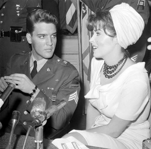Elvis welcome home with Tina Louise