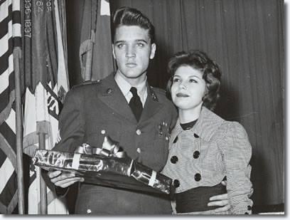 Nancy met Elvis when he landed in New Jersey back from Germany