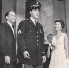 Frank Sinatra not getting it his way - propping up his career to Welcome Elvis Home. GI Blues put Elvis in Franks way too.