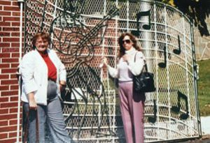 1987 me and my Aunt Olof at Graceland