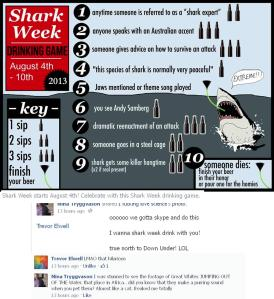 Shark Week Drinking Game