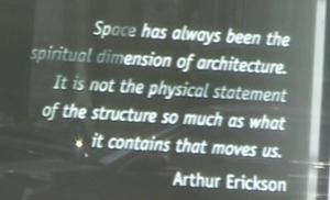 Arthur Erickson Space quote