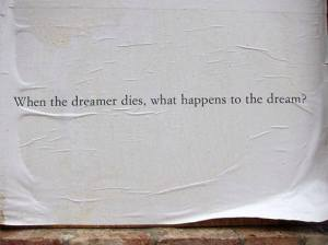 dream and dreamer death