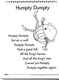 humpty dumpty poem