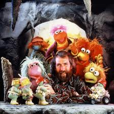 Jim Henson and Fraggle with Dozers