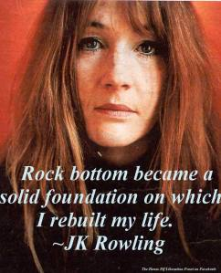 JK Rowling rock bottom quote