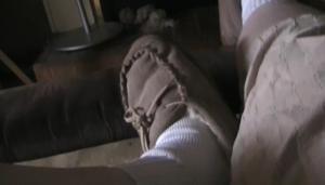 meditating feet