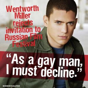 Wentworth Millar As a gay man I must decline