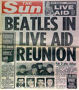 Beatles Live Aid Reunion
