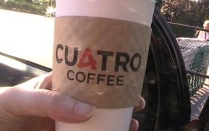 Cuatro coffee latte to go