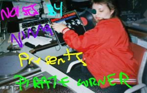 Nina Tryggvason - back in my Simon Fraser University DJ days. although.. I am wearing my Kwantlen College jacket. in the early 90's did a radio show called Noises by Nina Pirate Corner will feature my fave bootleg and imports, studio outtakes and soundboard and audience recordings. as well as my fave selections from alternative university radio stations circa 1988