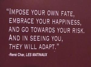 Rene Char fate and happiness quote