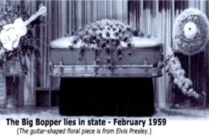 Big Bopper funeral and Elvis Flowers