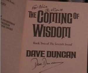 Dave Duncan autograph 3