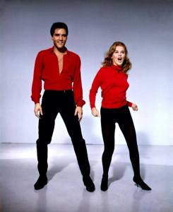 Elvis and Ann Marget in red