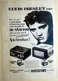 Elvis record player advert