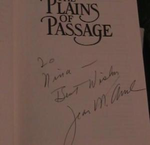 Jean M Auel autograph