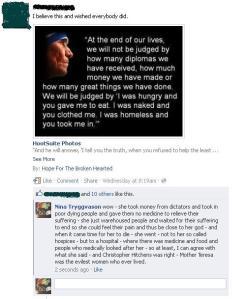 Mother Teresa was evil