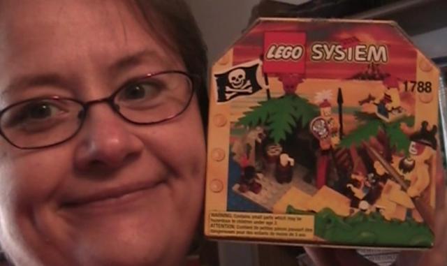 Nina and pirate lego