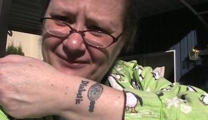 Nina tattooed