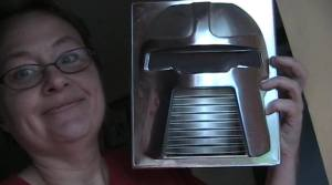 Nina and Original Battlestar Galactica classic cylon set