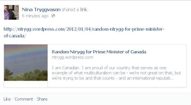 Random Ntrygg for Prime Minister