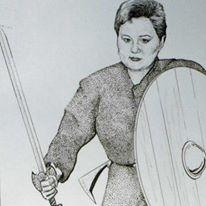 Nina as a Valkryie drawn by Warren Oddsson