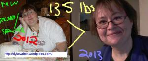 Update - 155 pounds, reversed diabetes, eliminated sleep apena and learned to control panic attacks Agoraphobic Diary stepped on the scale today and I have now lost 135 pounds by eating raw/vegetarian foods with a small portion of grain based foods the photo of my in the white shirt is my 44th birthday and the close up is a recent image