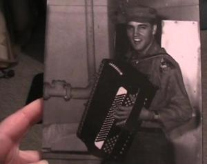 Elvis and accordian in the Army