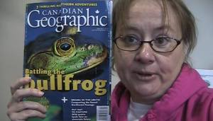 Nina and frogs