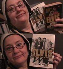 Nina with Sonny West Books