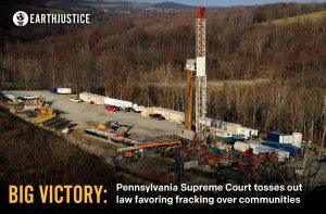 "GREAT NEWS: In a major victory over #fracking, Pennsylvania's Supreme Court has overturned a controversial portion of a law that would have stripped local community control over fracking. http://ow.ly/rW2ni Seven Pennsylvania towns and the Delaware Riverkeeper Network challenged the law (Earthjustice filed an amicus brief in support). As our attorney Deborah Goldberg says, ""The Pennsylvania Supreme Court has ruled that stripping away the rights of local communities to protect themselves from fracking isn't just bad for the environment, it's bad for democracy."" The pivotal ruling also comes before Ohio's Supreme Court considers the very same question. Click SHARE or LIKE to congratulate our partners for their stunning victory over fracking! TELL US >> Do you believe cities and towns have a right to ban fracking within their borders? (photo by Mark Schmerling)"