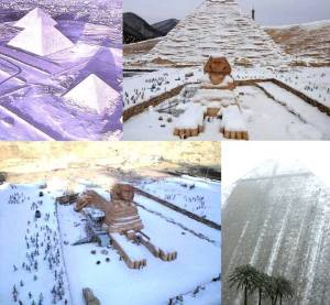 snow in Cairo