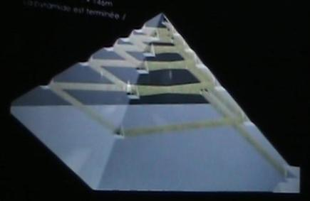 the internal ramp of the pyramid