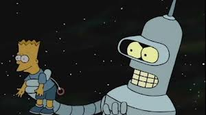 Bender with Bart Doll