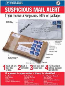 Canada post suspect mail