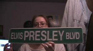Elvis Presley Blvd OFF Bathroom Door