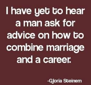 Gloria Steinem men on career and marraige