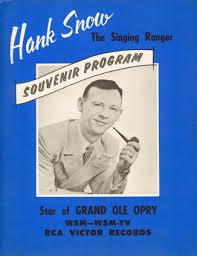 Hank Snow souvenir program