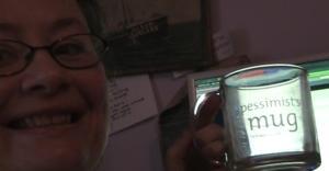Nina and pessimist mug