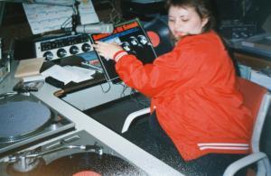 Nina Tryggvason CJIV DJ at SImon Fraser 1