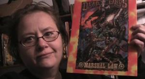 Nina with Deadlands Marshall Law Screen