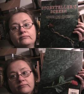 Nina with Storytell Vampire Screen