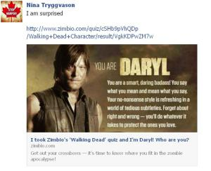 In Walking Dead Nina is Daryl