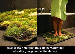 Moss shower matt