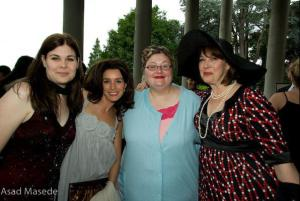 Women in Film & Television (Vancouver Chapter) Spotlight Gala 2007 Theme: Film Noir Me: Nosy Landlady Location: Hycroft Manor Left to Right: with Meghan Ciana Doidge, Sarah Deakins. Nina Tryggvason and Christine Willes - see also: https://dykewriter.wordpress.com/2013/08/09/raw-recovery-process-double-tv-character-feature-christine-willes/