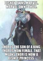 Thor the disney princess