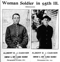 women passing for war