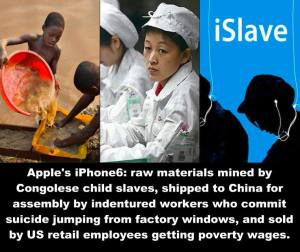 US Uncut September 9 · Edited . For a company that prides itself on innovation, Apple's supply chain resembles the 18th century triangle trade. *Also, let's not forget Apple dodges billions in taxes and illegally colluded to suppress the salaries of their engineers and programmers. SHARE and LIKE our page US Uncut #iPhone6